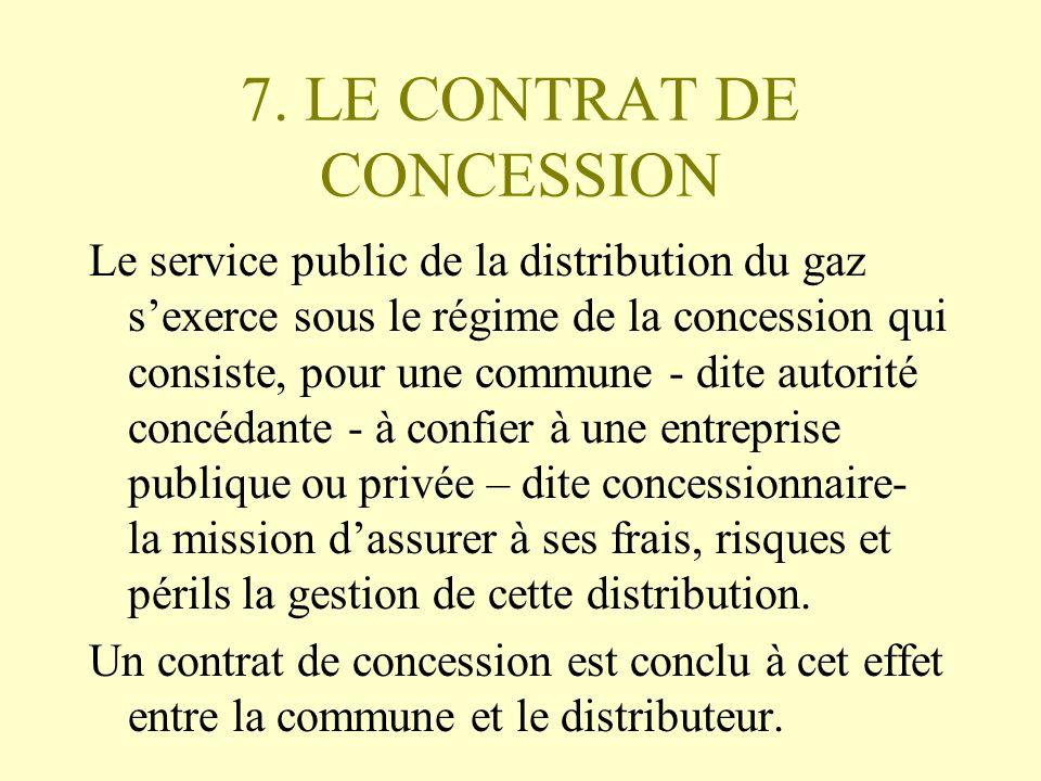 7. LE CONTRAT DE CONCESSION