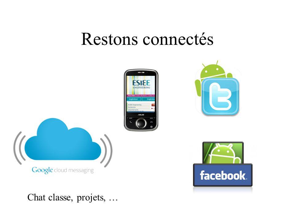 Restons connectés Chat classe, projets, …