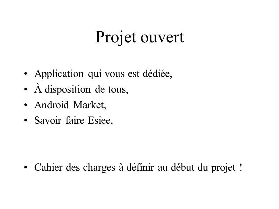 Projet ouvert Application qui vous est dédiée, À disposition de tous,