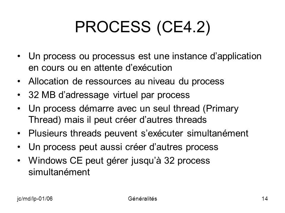 A-102 CE4.2. PROCESS (CE4.2) Un process ou processus est une instance d'application en cours ou en attente d'exécution.
