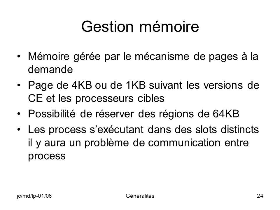Gestion mémoire Mémoire gérée par le mécanisme de pages à la demande