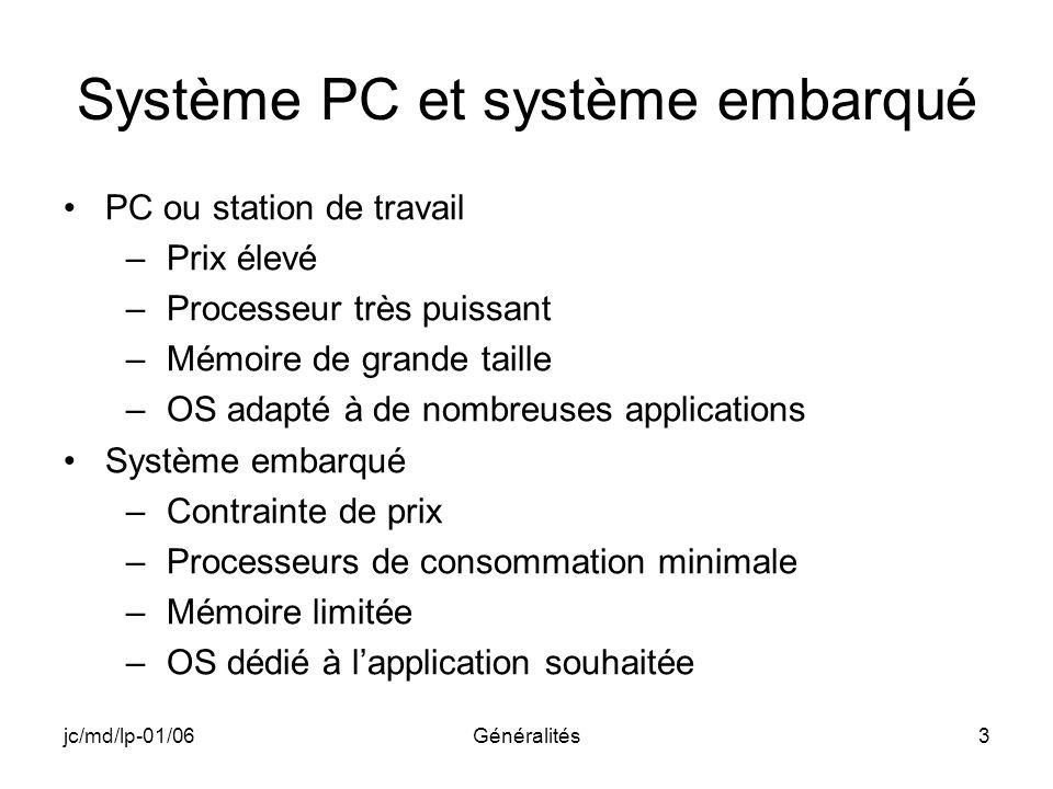 Système PC et système embarqué