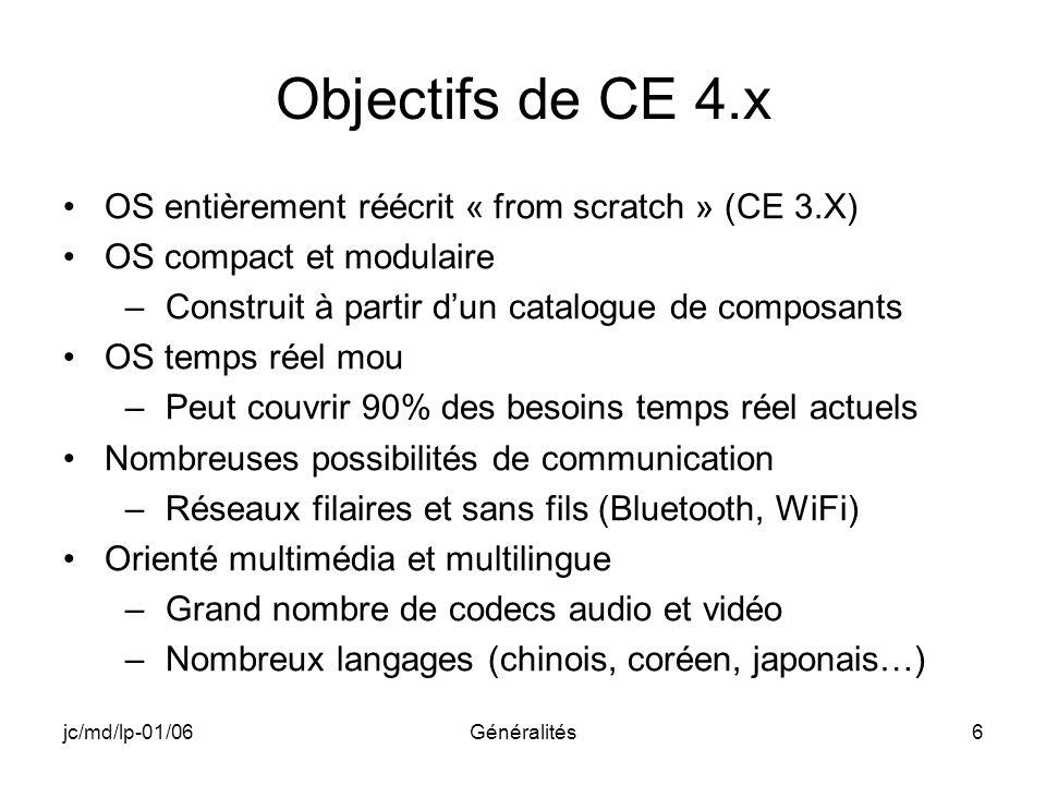 Objectifs de CE 4.x OS entièrement réécrit « from scratch » (CE 3.X)