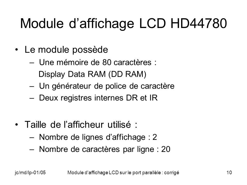 Module d'affichage LCD HD44780