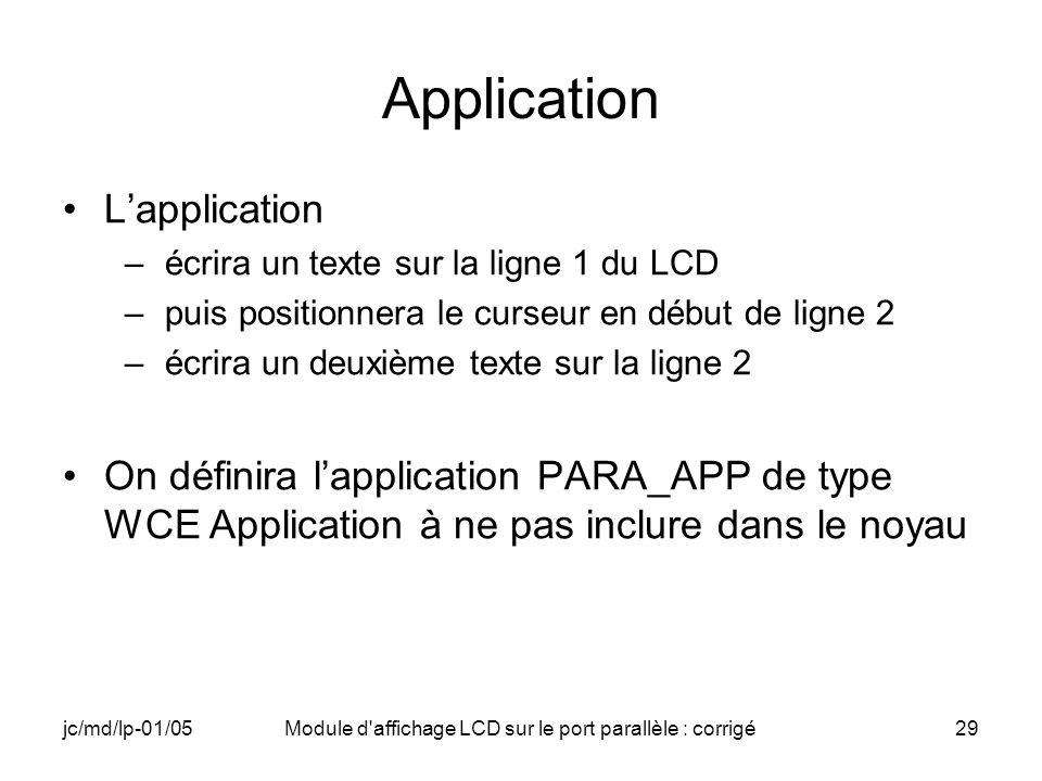 Module d affichage LCD sur le port parallèle : corrigé