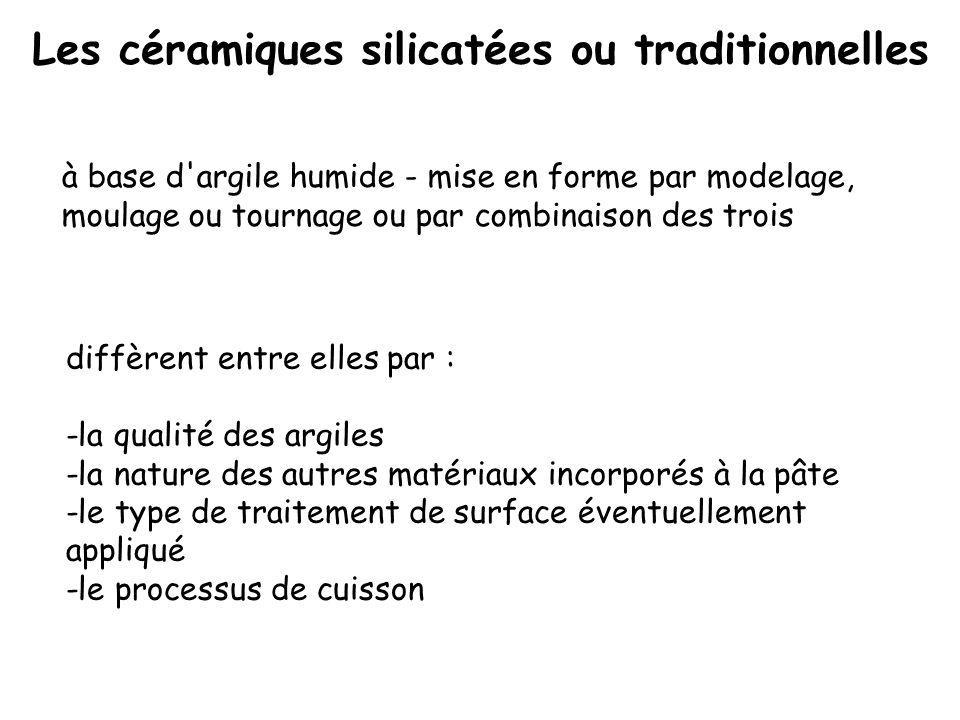 Les céramiques silicatées ou traditionnelles