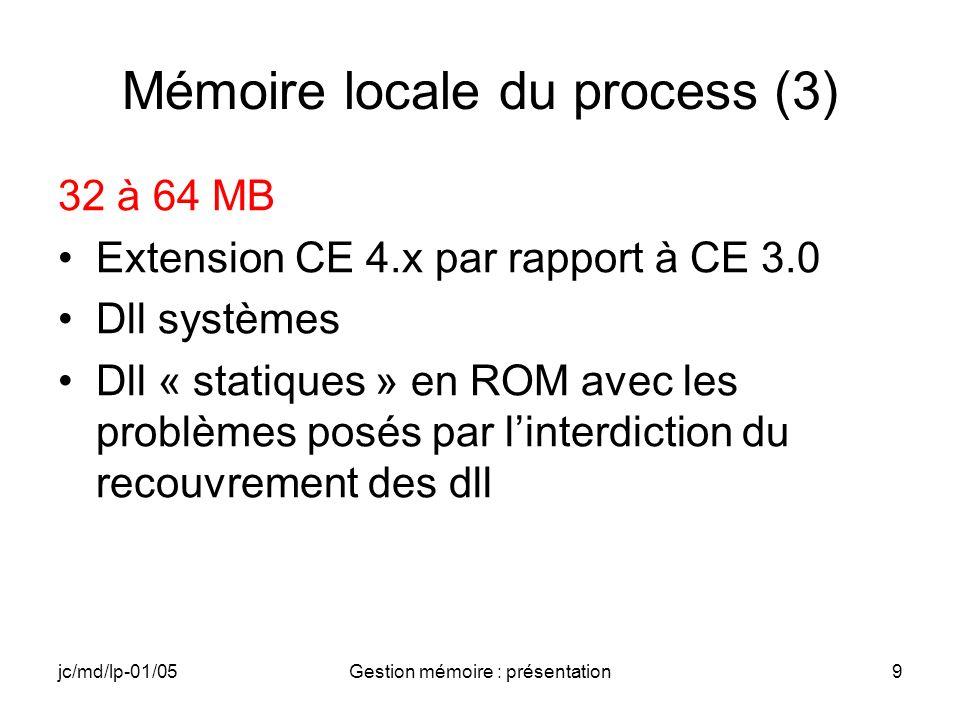 Mémoire locale du process (3)