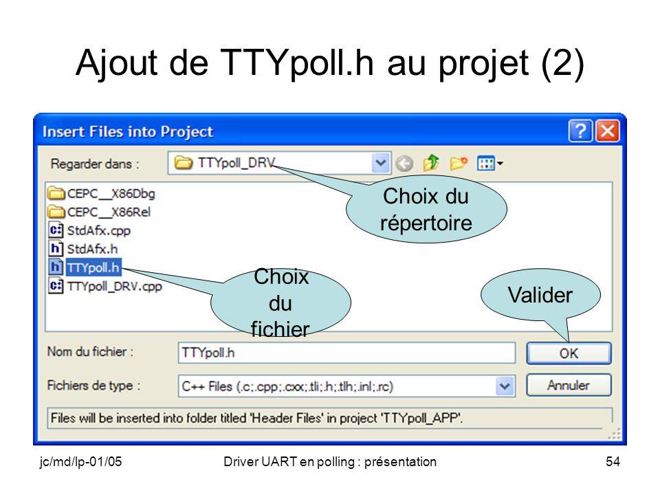 Ajout de TTYpoll.h au projet (2)