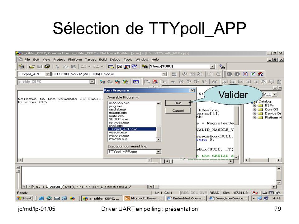 Sélection de TTYpoll_APP