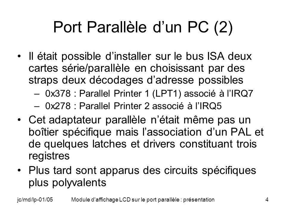 Port Parallèle d'un PC (2)