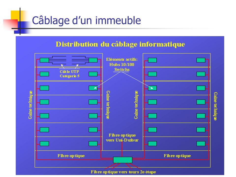 Câblage d'un immeuble Ethernet
