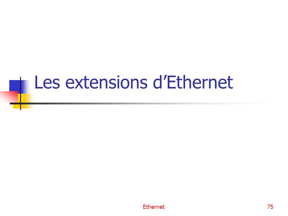Les extensions d'Ethernet