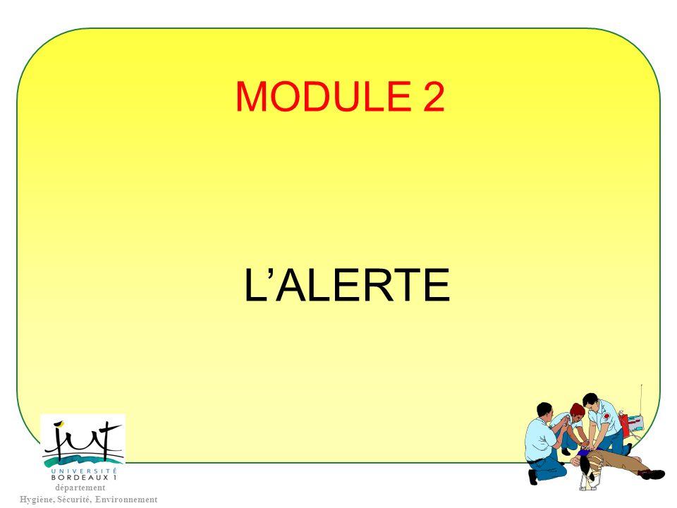 MODULE 2 L'ALERTE