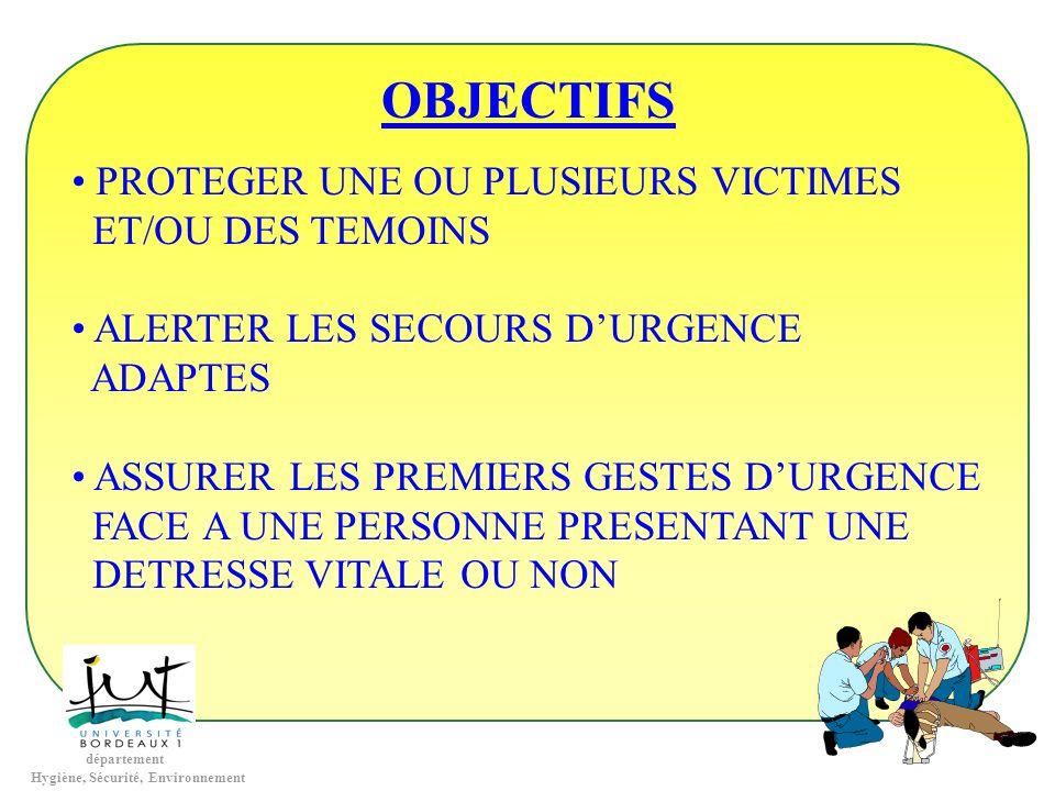 OBJECTIFS PROTEGER UNE OU PLUSIEURS VICTIMES ET/OU DES TEMOINS