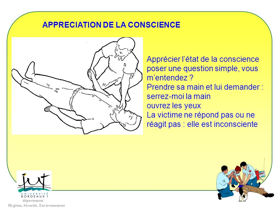 APPRECIATION DE LA CONSCIENCE