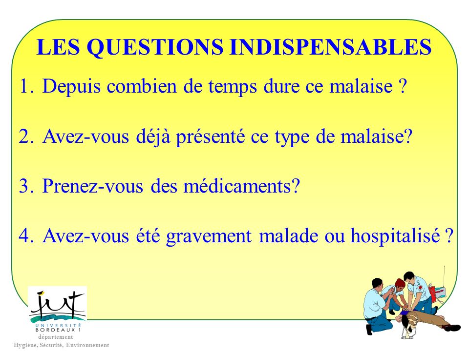 LES QUESTIONS INDISPENSABLES
