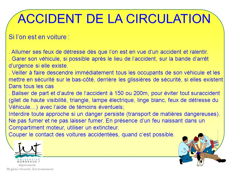 ACCIDENT DE LA CIRCULATION