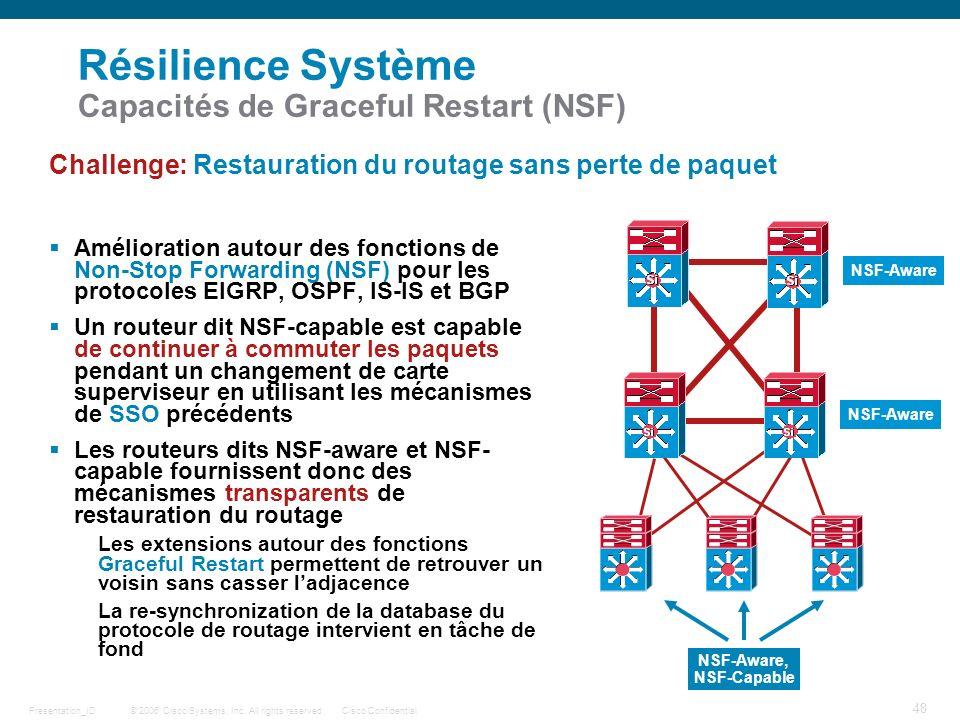 Résilience Système Capacités de Graceful Restart (NSF)