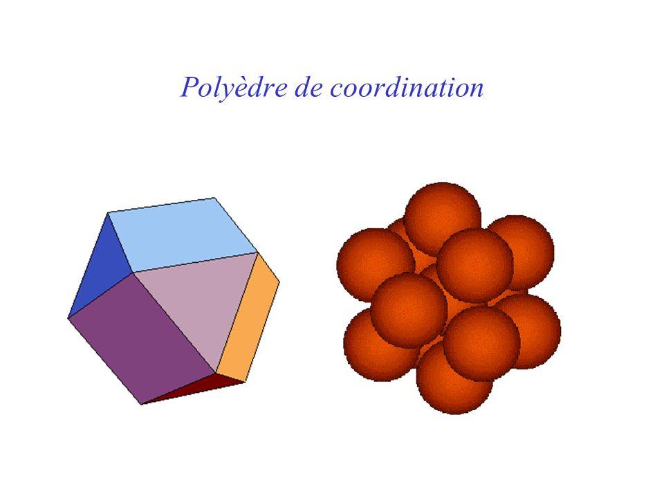Polyèdre de coordination