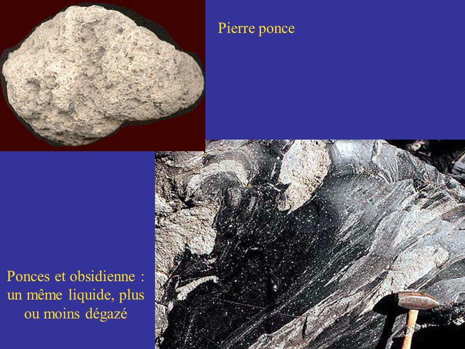 Ponces et obsidienne : un même liquide, plus ou moins dégazé