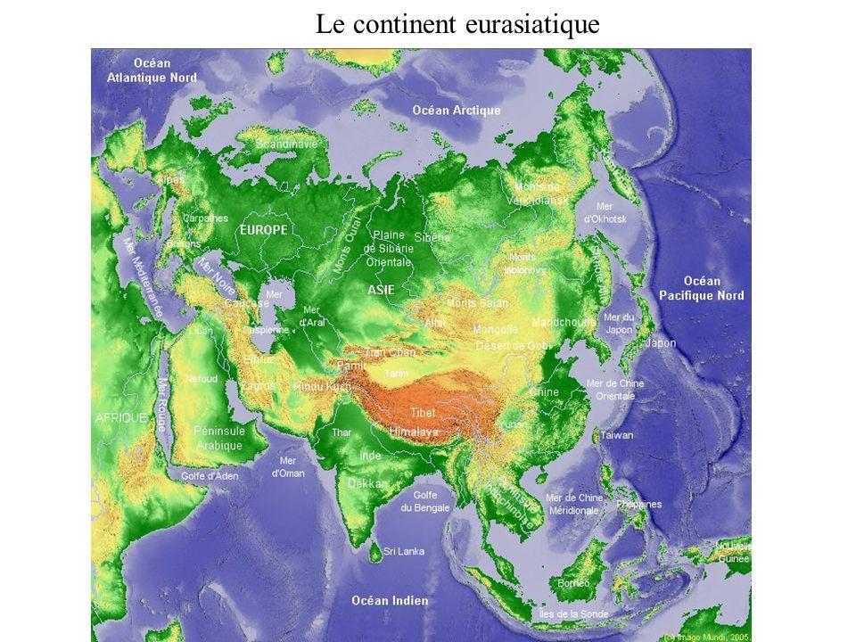 Le continent eurasiatique