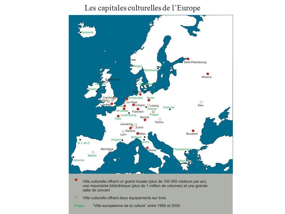 Les capitales culturelles de l'Europe