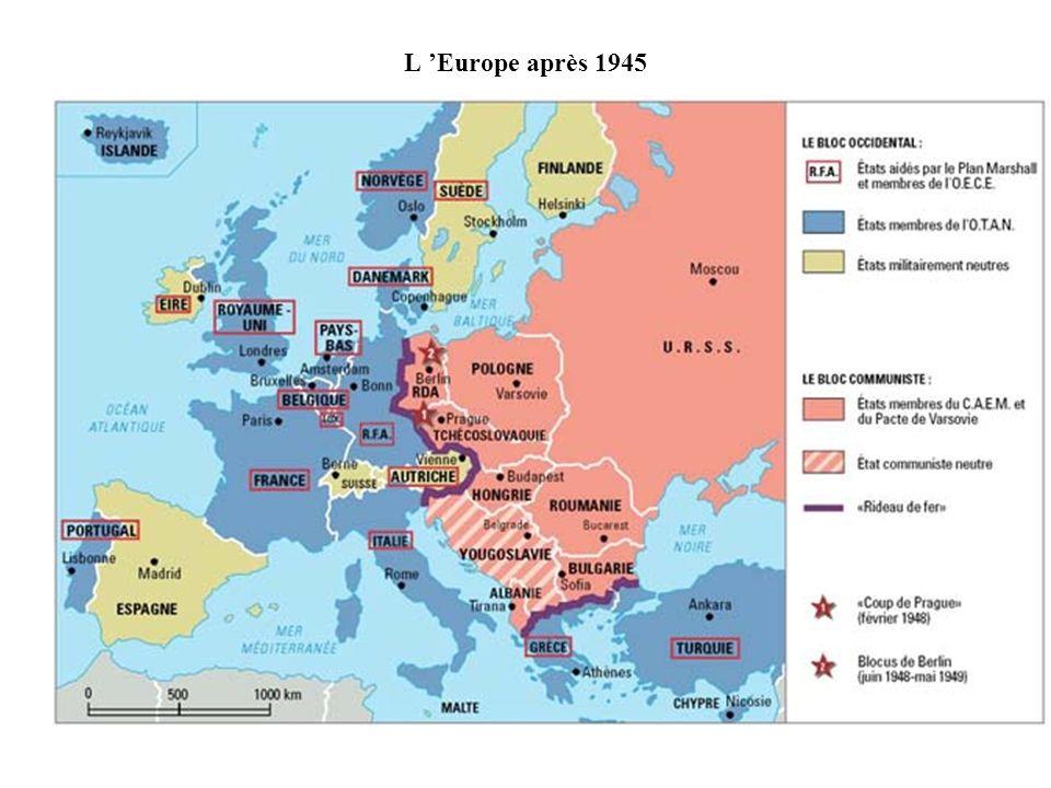 L 'Europe après 1945