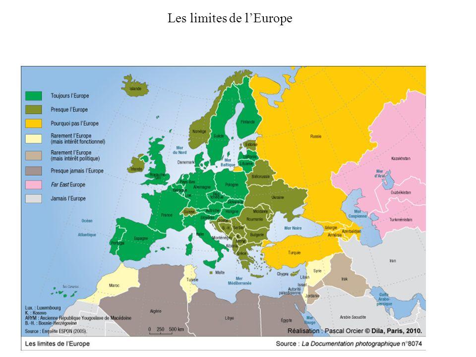 Les limites de l'Europe