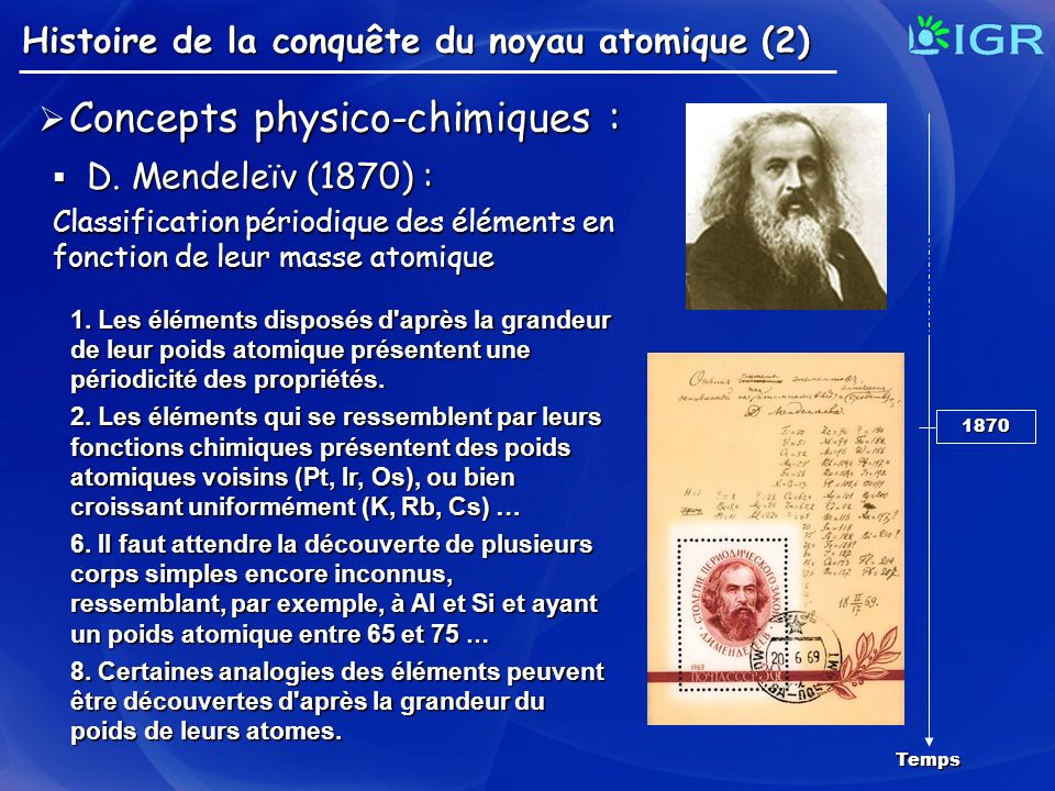 Concepts physico-chimiques :
