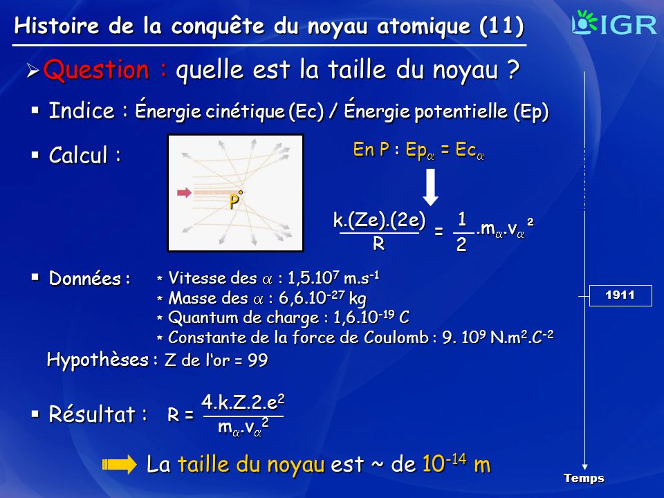 Indice : Énergie cinétique (Ec) / Énergie potentielle (Ep)