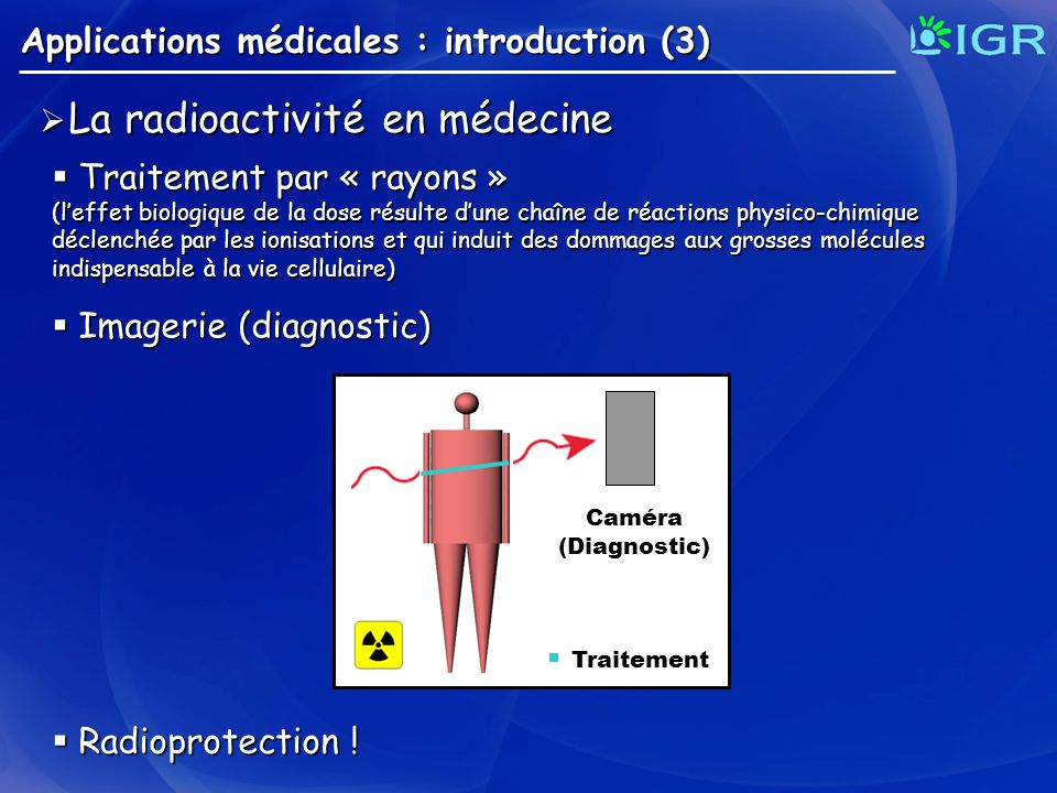 La radioactivité en médecine