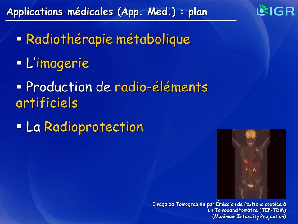 Radiothérapie métabolique L'imagerie