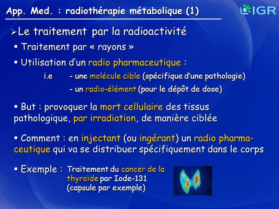 Le traitement par la radioactivité