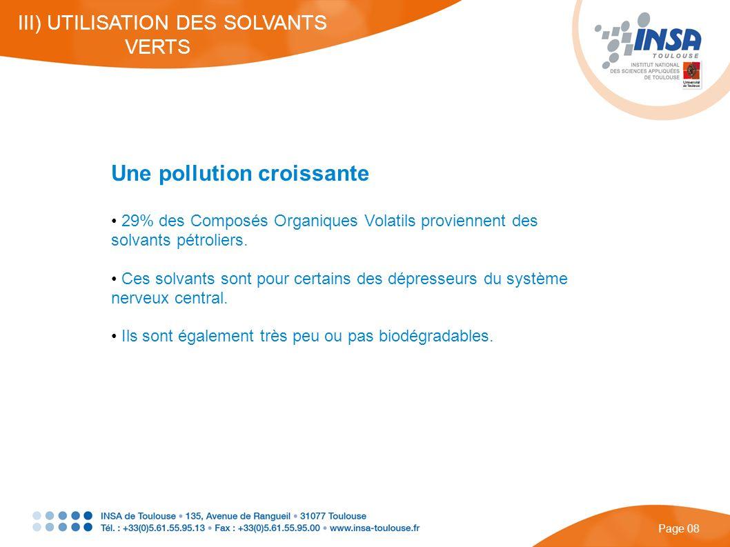 Une pollution croissante
