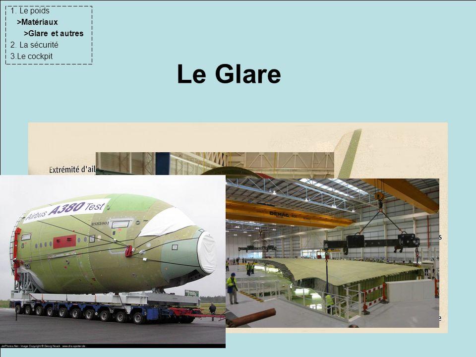 Le Glare 1. Le poids >Matériaux >Glare et autres 2. La sécurité