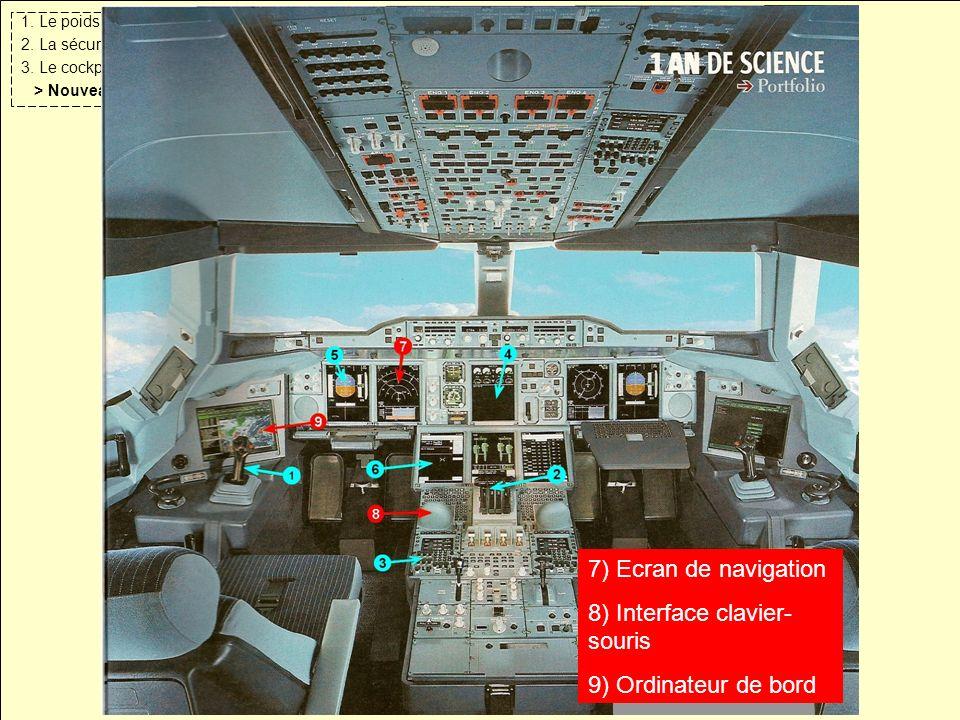 1. Le poids 2. La sécurité. 3. Le cockpit. > Nouveautés. Les nouveautés.