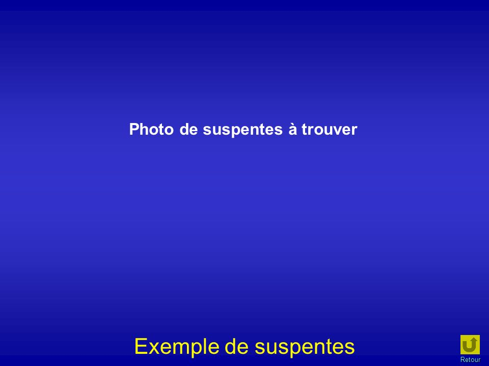 Photo de suspentes à trouver