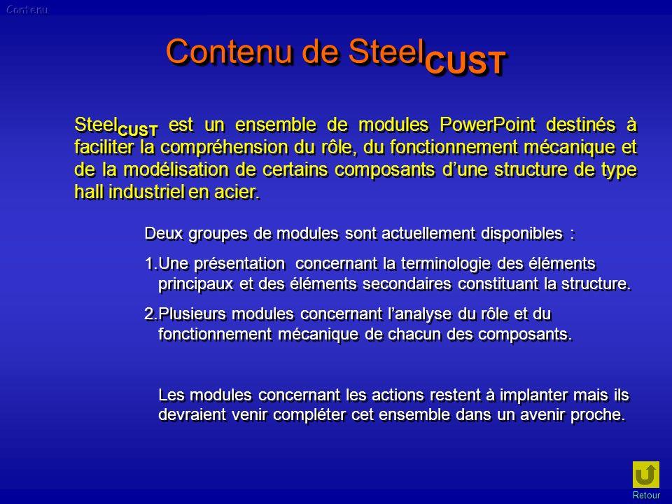 Contenu Contenu de SteelCUST.