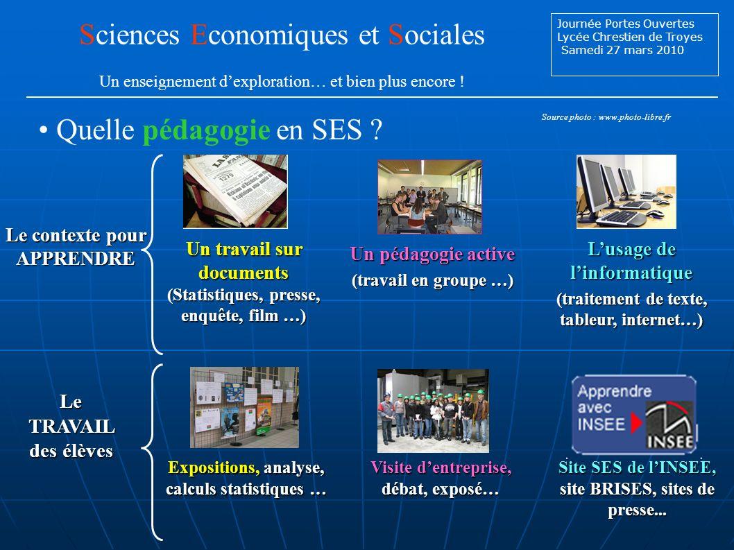 Sciences Economiques et Sociales