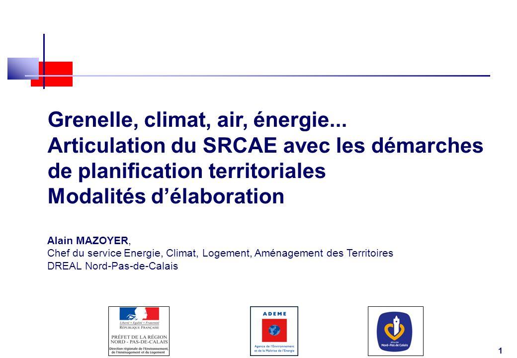 Grenelle, climat, air, énergie...