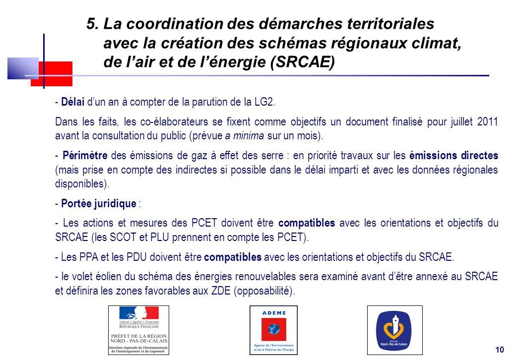 5. La coordination des démarches territoriales