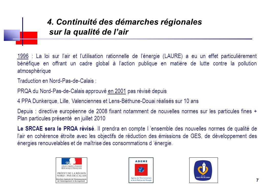 4. Continuité des démarches régionales