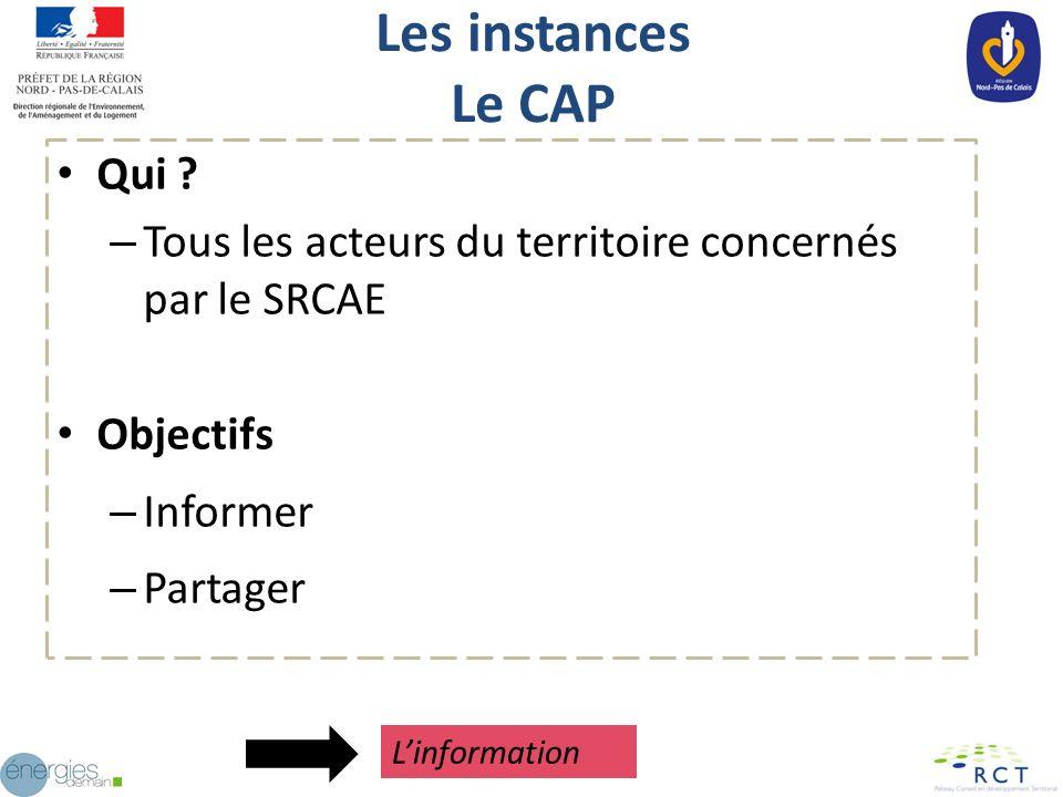 Les instances Le CAP Qui