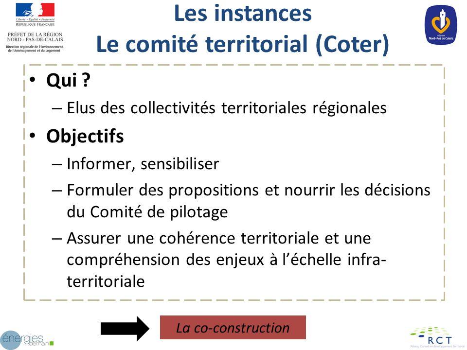 Les instances Le comité territorial (Coter)