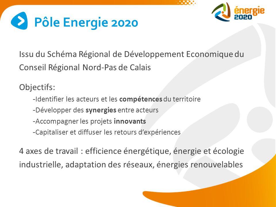Pôle Energie 2020 Issu du Schéma Régional de Développement Economique du Conseil Régional Nord-Pas de Calais.