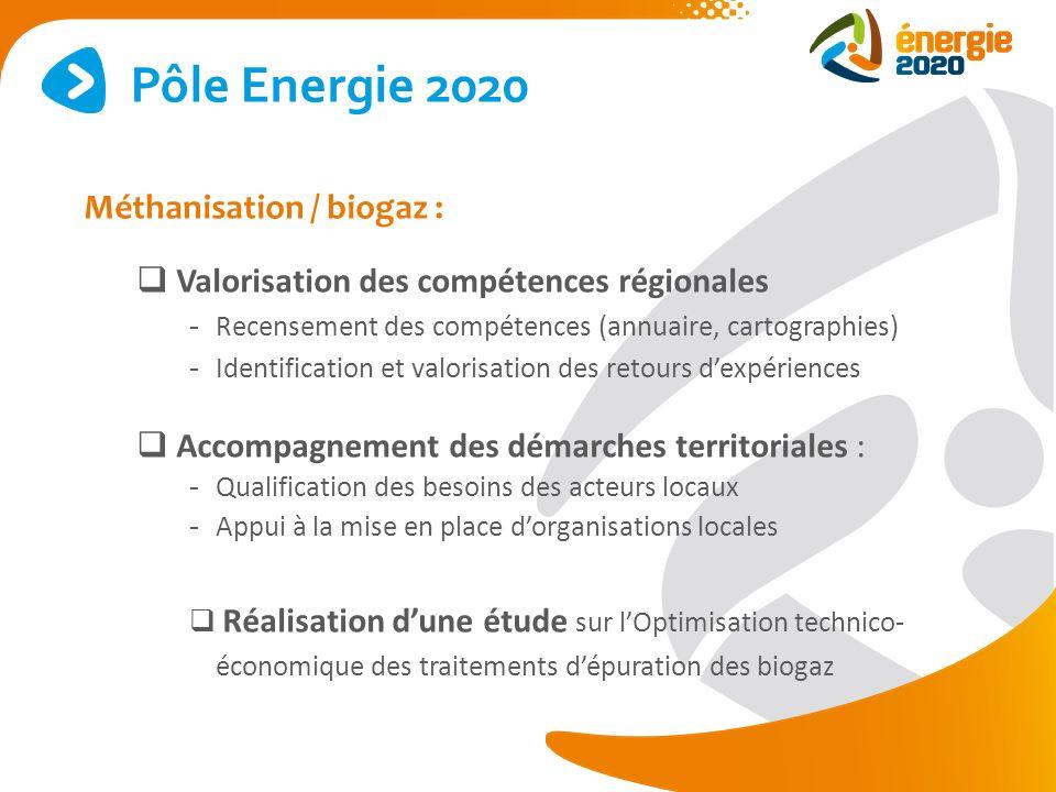 Pôle Energie 2020 Méthanisation / biogaz :