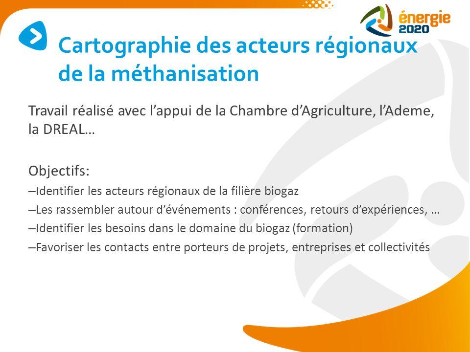 Cartographie des acteurs régionaux de la méthanisation