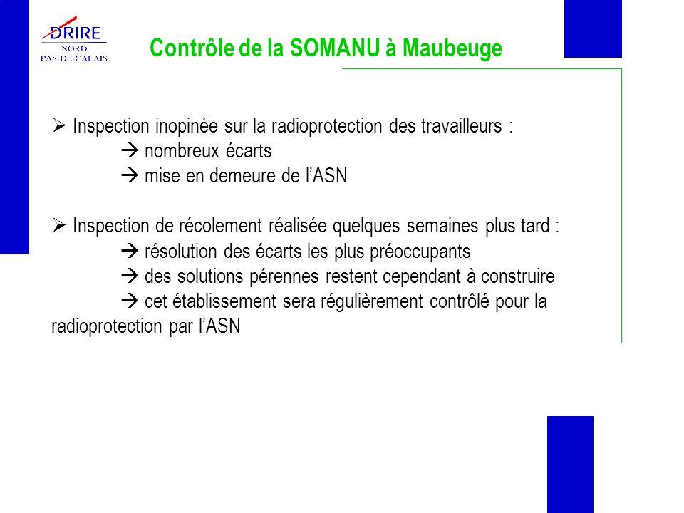 Contrôle de la SOMANU à Maubeuge