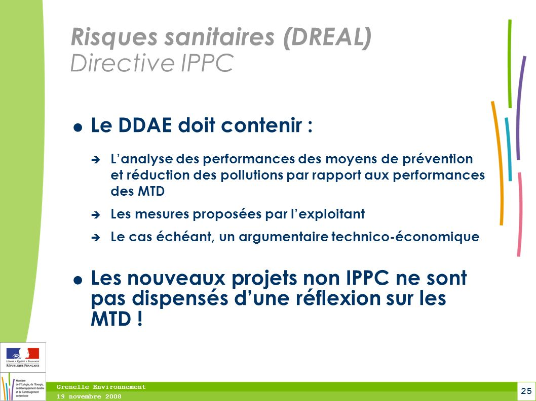 Risques sanitaires (DREAL) Directive IPPC