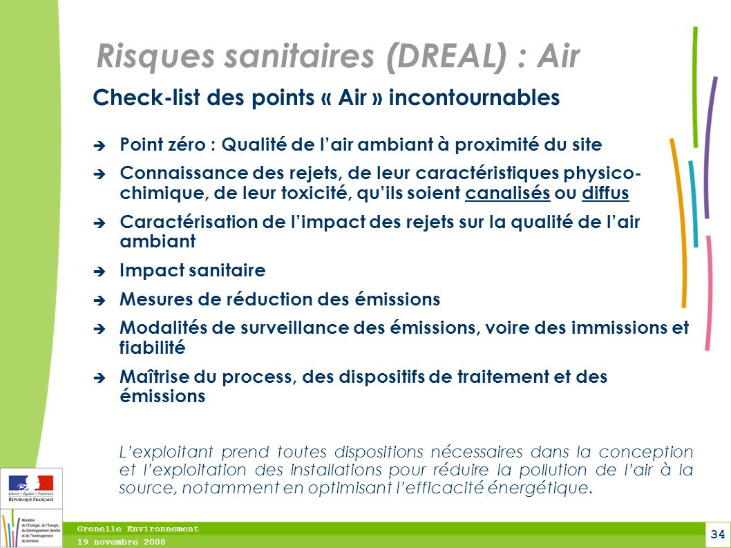 Risques sanitaires (DREAL) : Air
